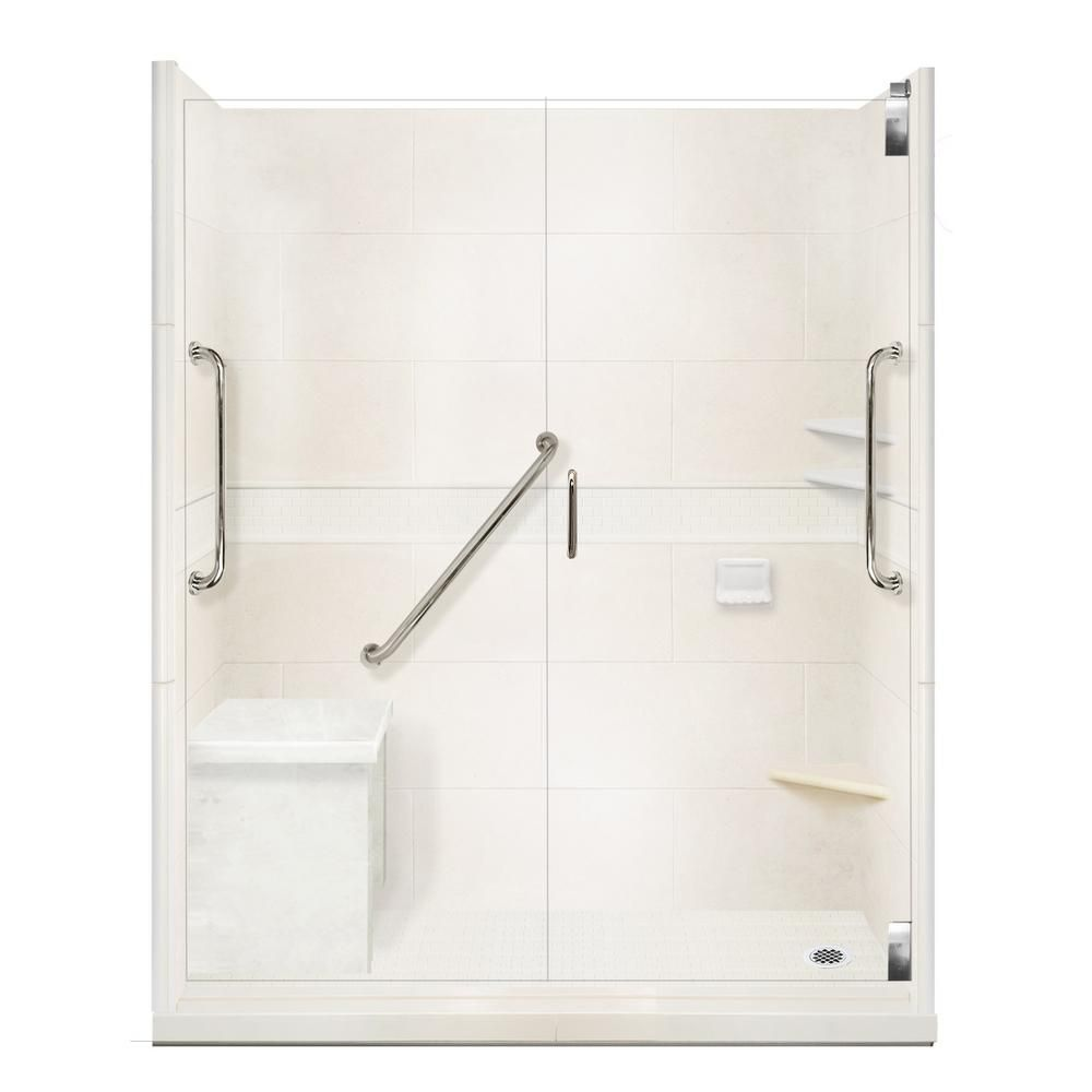 American Bath Factory Classic Freedom Grand Hinged 36 In X 60 In