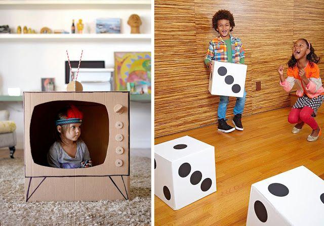 13 Juegos Hechos Con Cajas De Cartón Toy Chest Kids Rugs Party Decorations