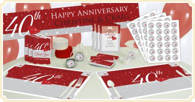 40th Anniversary Theme Bigdotofhappiness Com 40th Anniversary Party 40th Wedding Anniversary Party Ideas 40th Wedding Anniversary