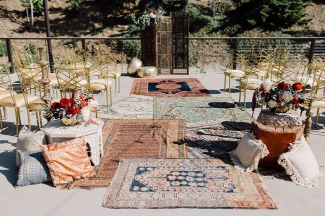 Inspiration Outoor Ceremonies: Bohemian Indian Wedding Inspiration