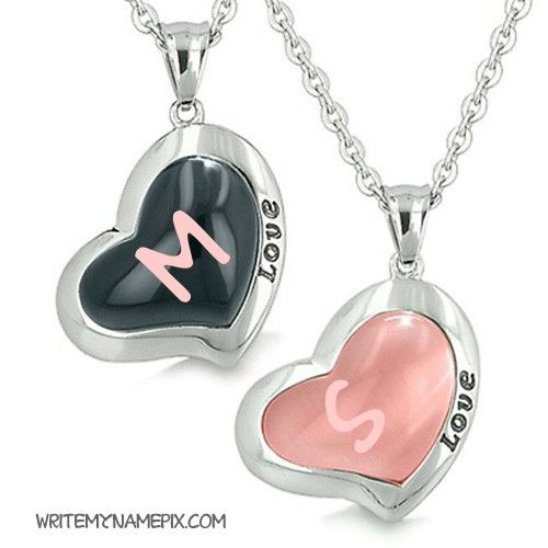 Beautiful Love Hearts With Print Lover Name Alphabet ...