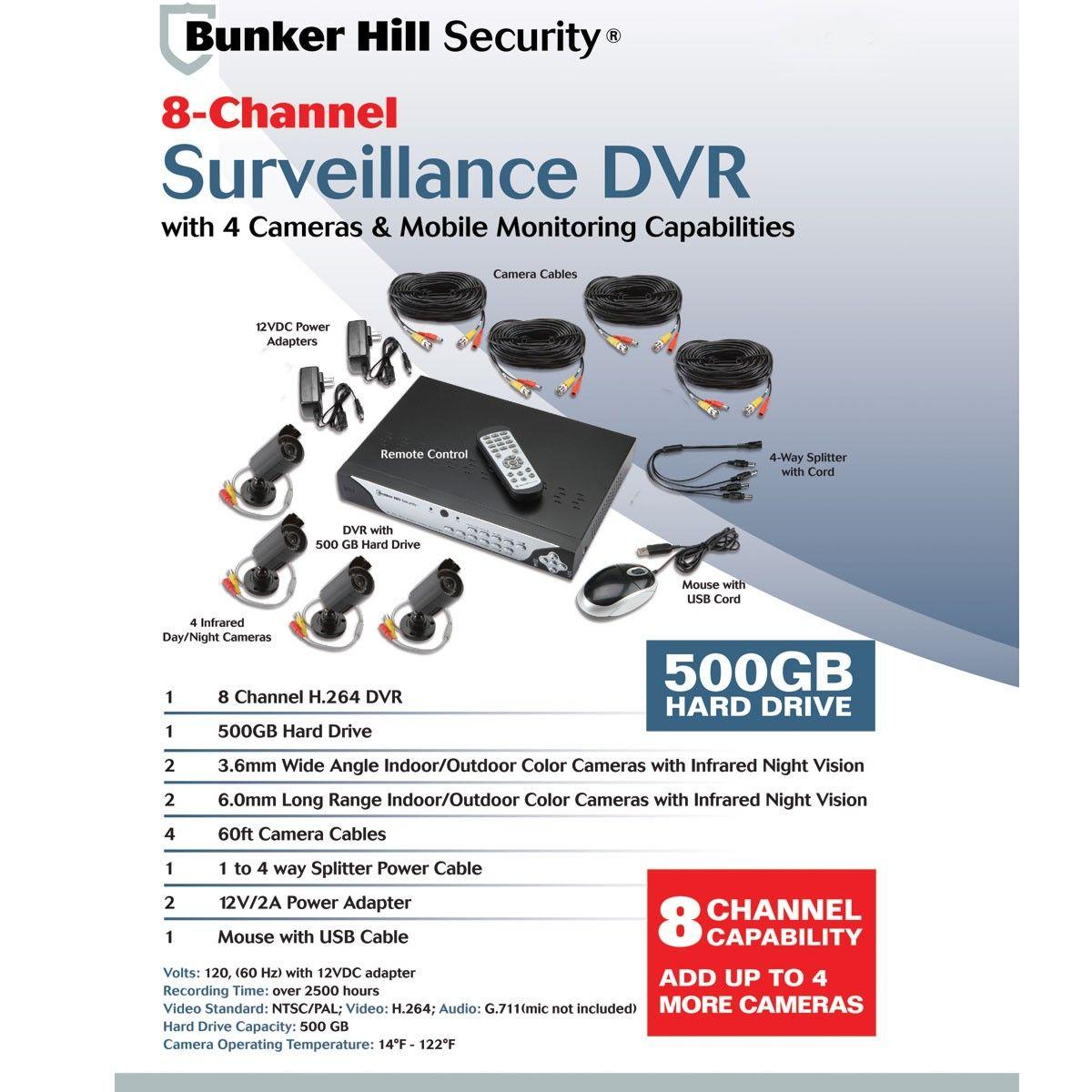 8 Channel Surveillance Dvr Surveillance Colour Camera Camera