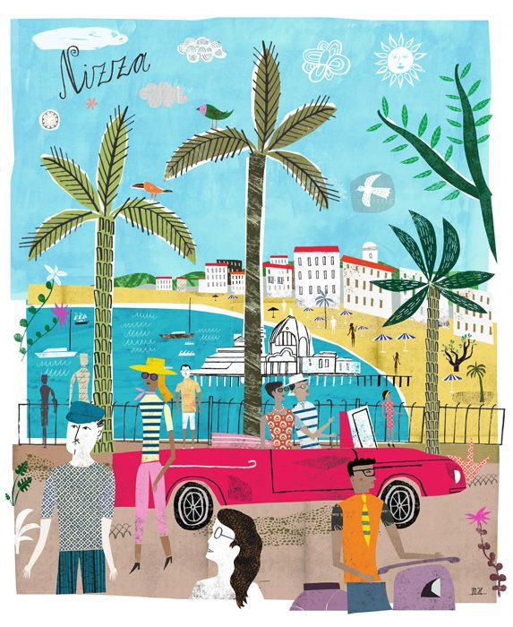 Nice Travel illustration by Martin Haake