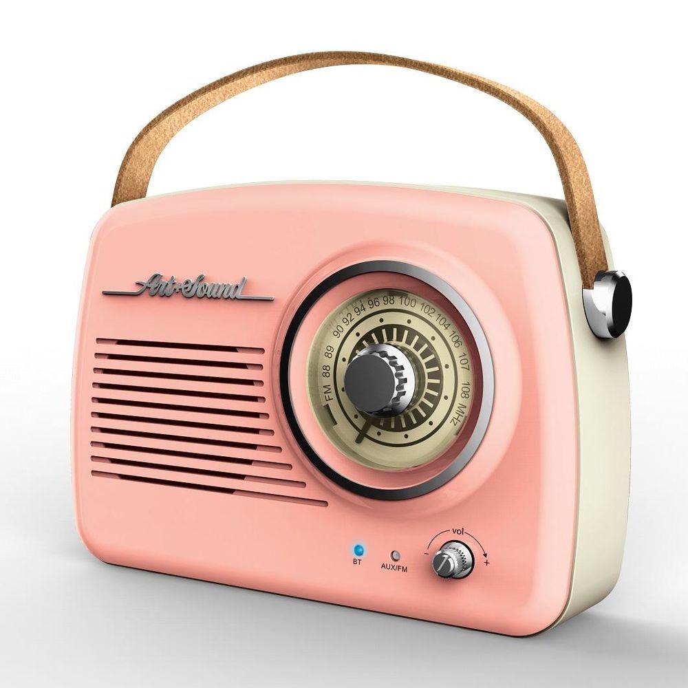Art Sound Wireless Vintage Radio Pink Vintage Radio Pink Radio Vintage Speakers