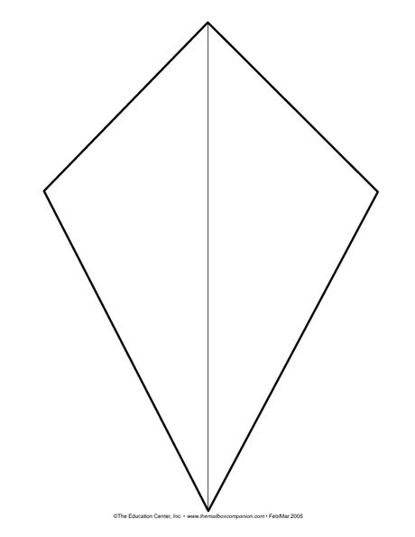 Kite template (for spring bulletin board) Teacher Ideas - kite template
