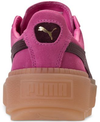 2ee85561419 Puma Women s Suede Platform Rugged Casual Sneakers from Finish Line - Pink  6.5
