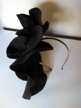 Felt Oversized Rosette Headband Headpiece Holiday Formal Hair Accessory Tracey Vest Black Felt Oversized Rosette Headband Headpiece - Hair Accessories - TradesyTracey Vest Black Felt Oversized Rosette Headband Headpiece - Hair Accessories - Tradesy