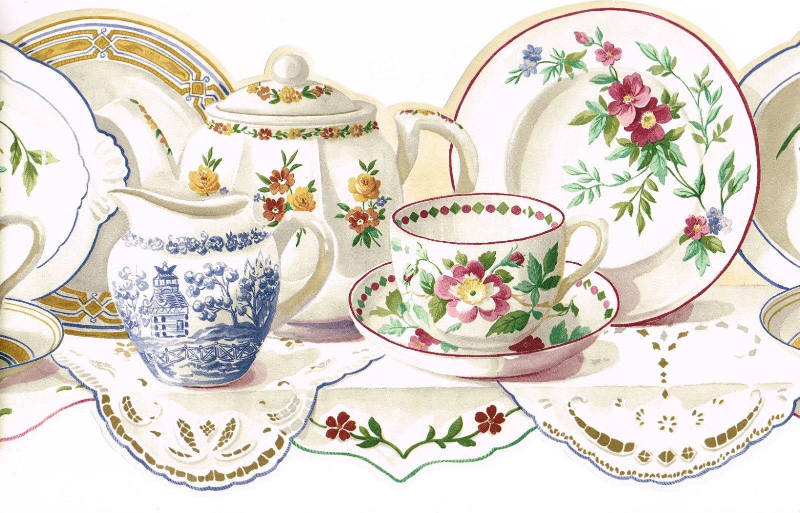 Antiqye tea pots and tea cups Vintage Teapot Tea Cup