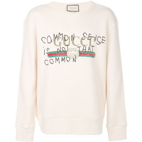 19b89ecaffb Gucci  Common Sense Is Not That Common  Sweatshirt ( 1