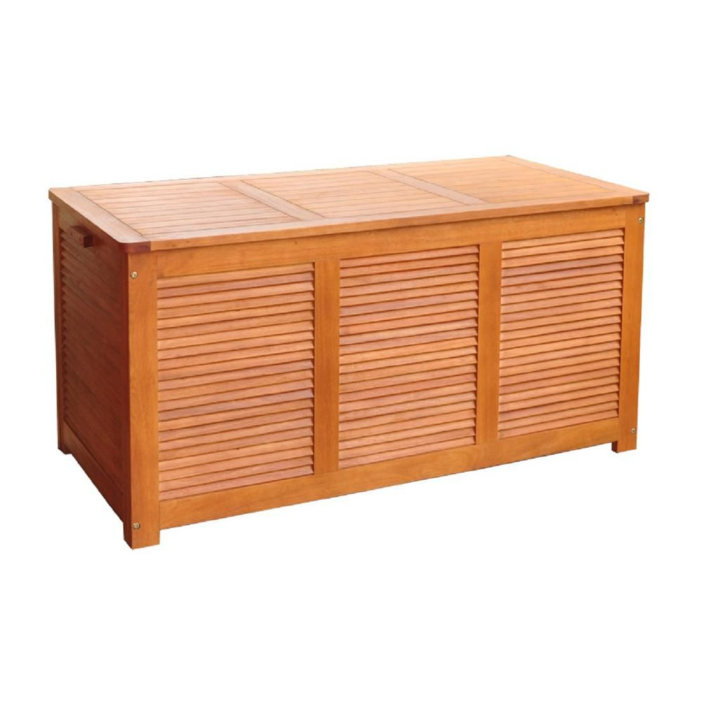 Northbeam 110 Gal 1 Ft 9 In X 4 Ft 1 In X 1 Ft 9 In Eucalyptus Deck Box Box0010210000 In 2020 Outdoor Storage Boxes Patio Storage Deck Box