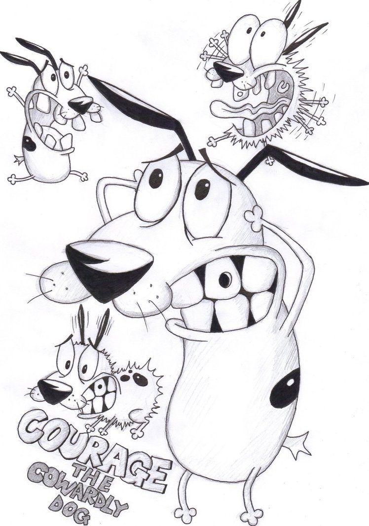 Courage The Cowardly Dog By Corina93 On Deviantart Cartoon