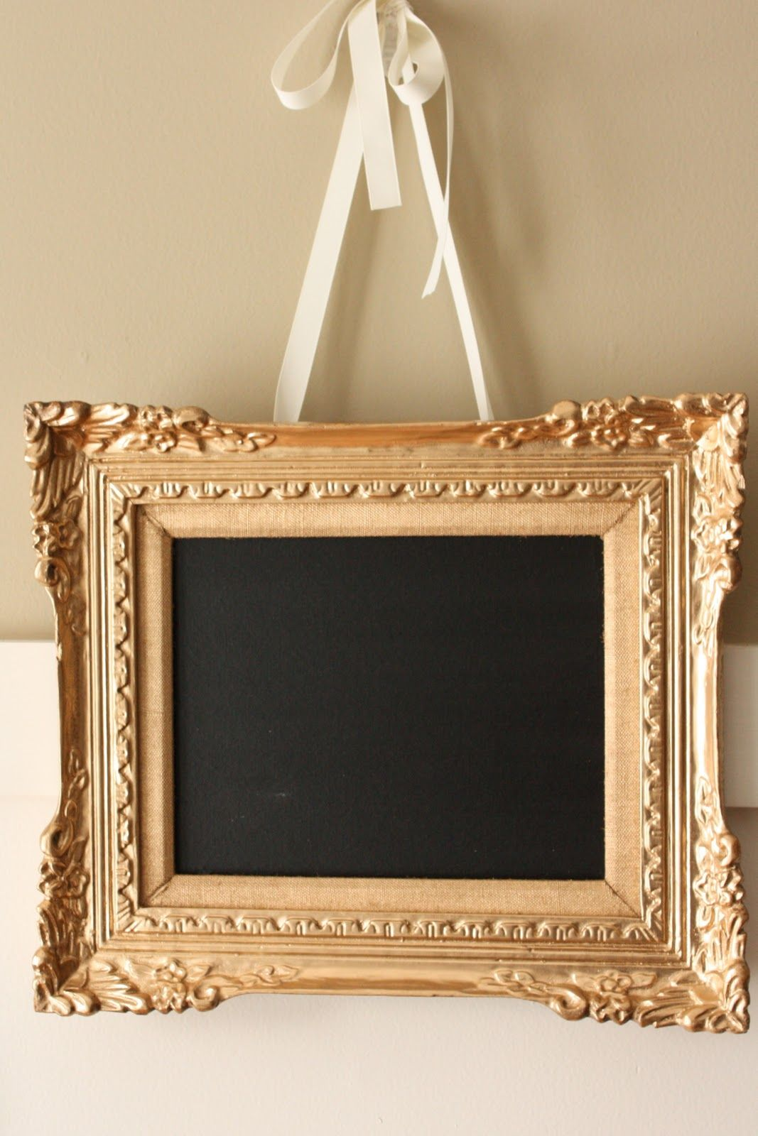 Five Minute Frame Fix A Little Gold Spray Paint Chalk Board