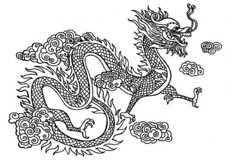 free printable chinese dragon coloring pages - chinese snake dragon coloring page free printable
