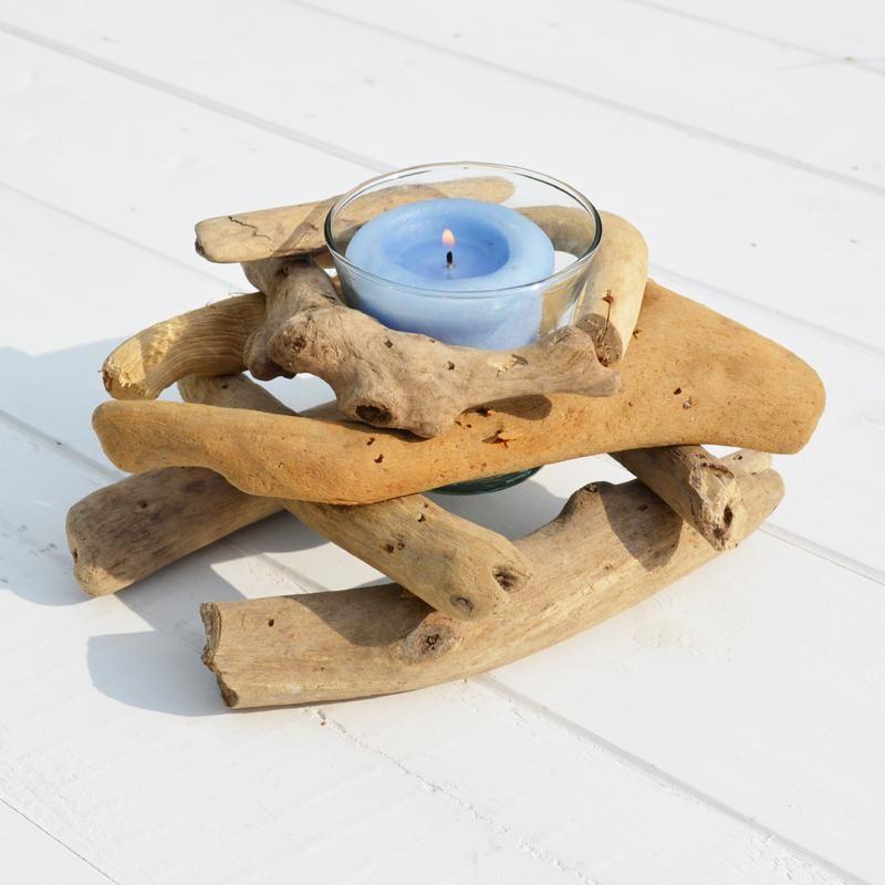 Driftwood tea light holder or votive