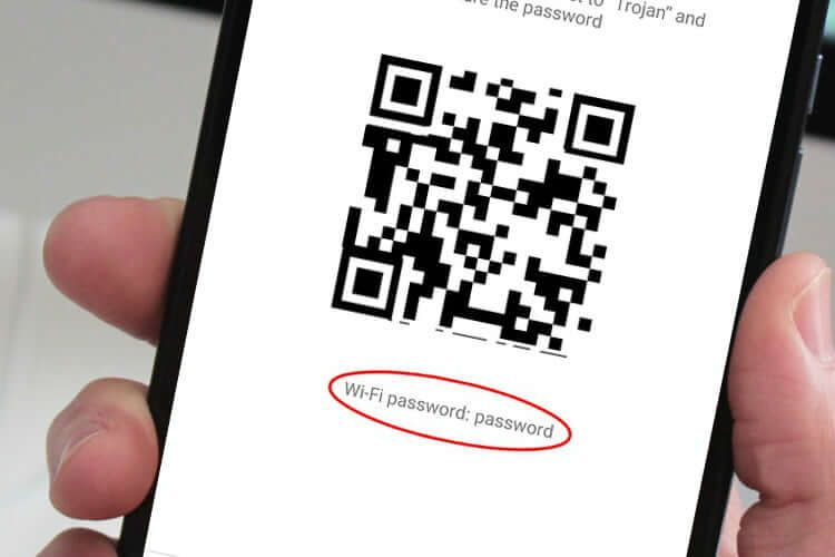 Connect to a network with wifi qr code on android q