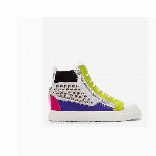 Sneakers High Clouté Homme Zanotti Colorblock Top Giuseppe wAqfOTtn