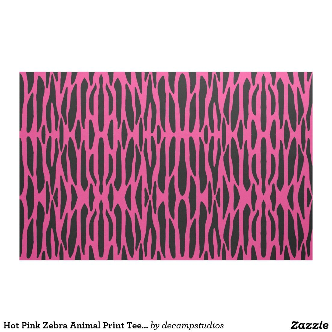 Room Decor · Hot Pink Zebra Animal Print Teen Girl Fabric