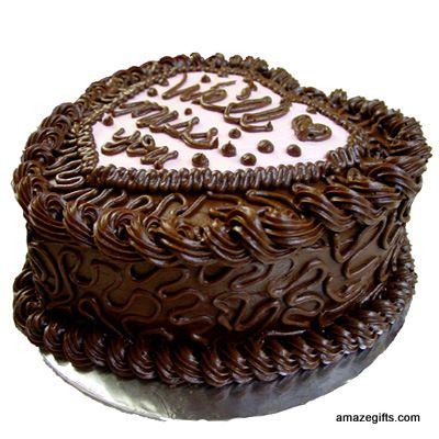 Amazegifts Heart Shaped Chocolate Cake With Fresh And Rich
