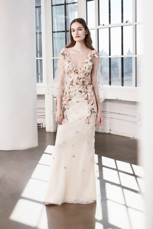 Lace up wedding dress november 2018 Marchesa Notte AutumnWinter  Readytowear  Marchesa Winter