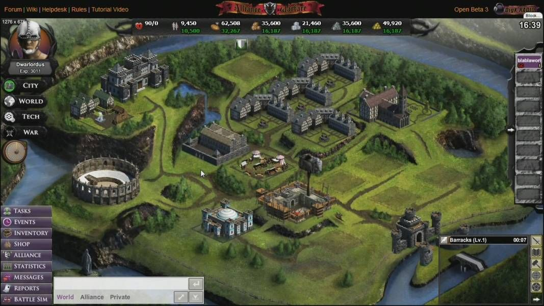 Alliance Warfare is a Free to play, Browser Based social Game