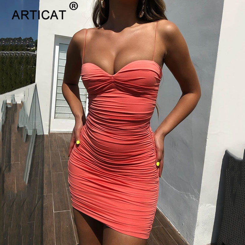 Strap Ruched Sexy Summer Dress Women Off Shoulder Strapless Backless Bodycon Mini Dress | WearLooks -   15 dress Party life ideas