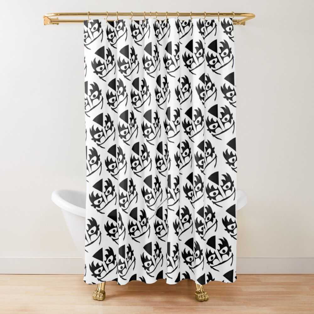The Demon Kiss Band Shower Curtain By