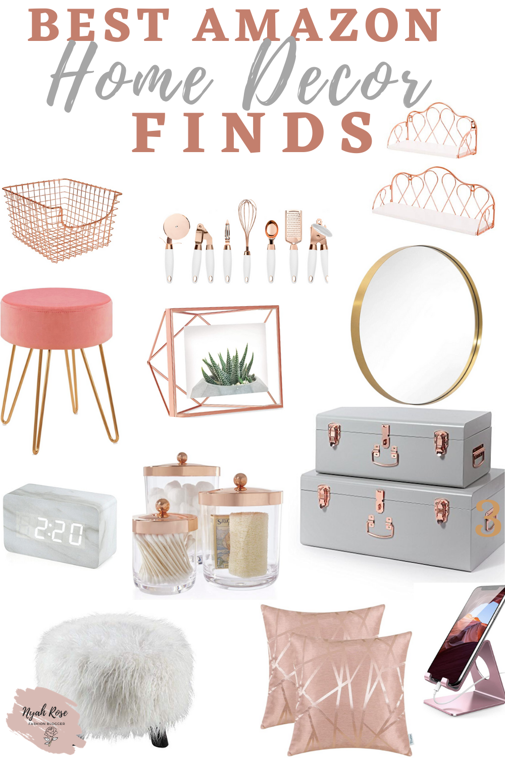 Gold Home Decor Amazon Finds Rose Gold Room Decor Gold Room Decor Rose Gold Rooms