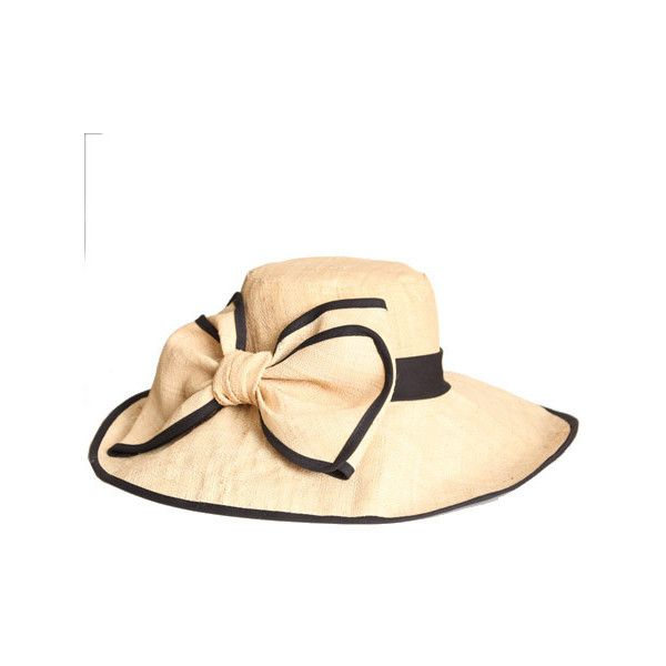 3cdd65d4e25 bow of beauty straw hat in black ( 33) ❤ liked on Polyvore ...