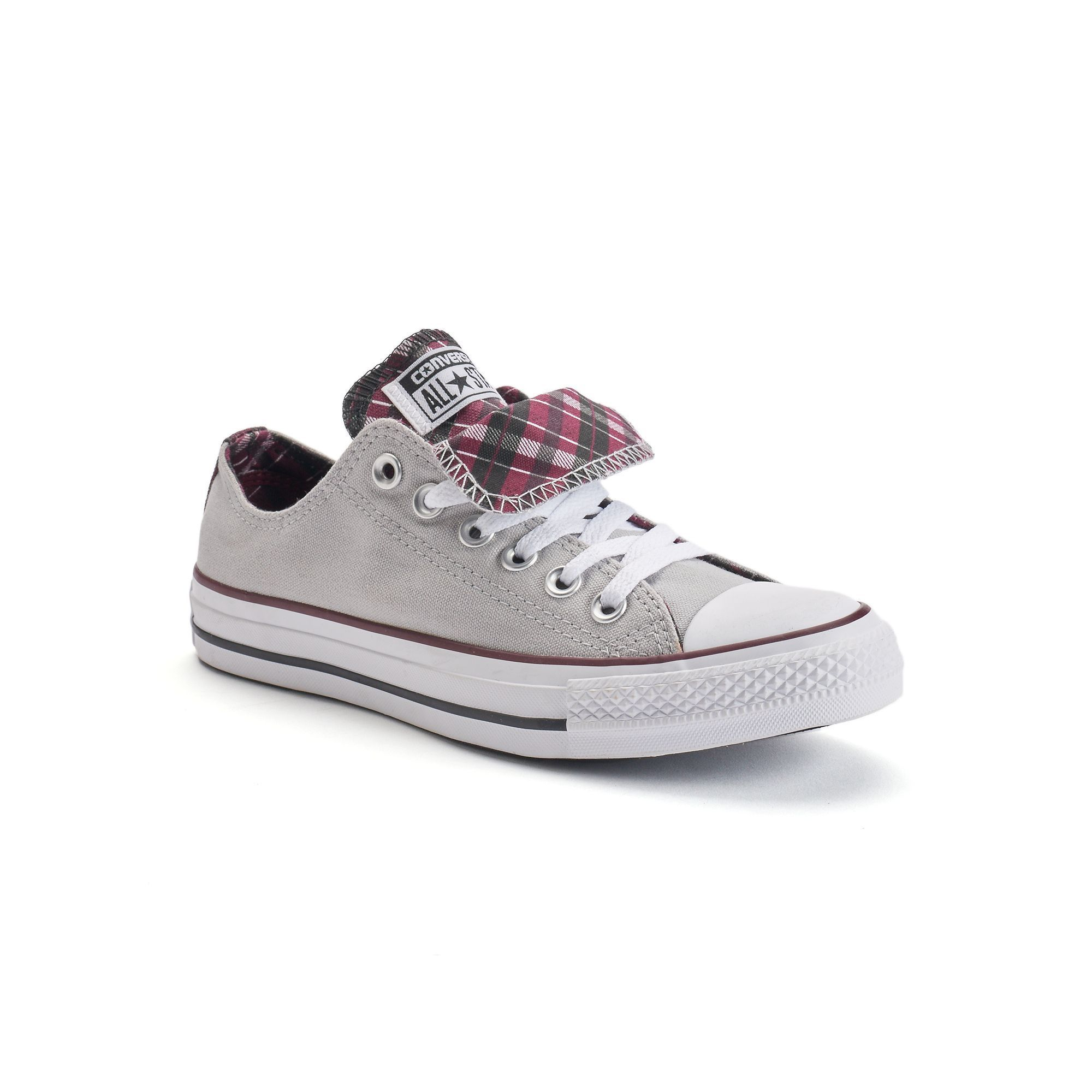 d68807022300 Women s Converse Chuck Taylor All Star Double-Tongue Plaid Shoes ...