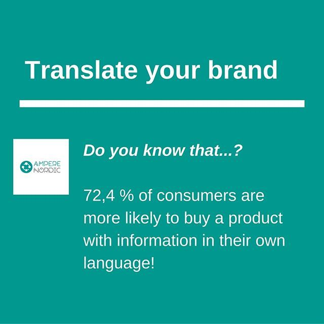 Every day, social media exposure takes customers from all over Europe to your website and online shop. Welcome them with texts in their own local language to increase your brand's conversion rate and reduce product returns due to poor comprehension of specifications and/or terms & conditions. #translateyourbrand #convert #translation #betterbusiness #scandinavianfashion #scandinaviandesign #danishdesign #danishfashion #scandinavianbrands #nordicinspiration #swedishfashion #swedishdesign…
