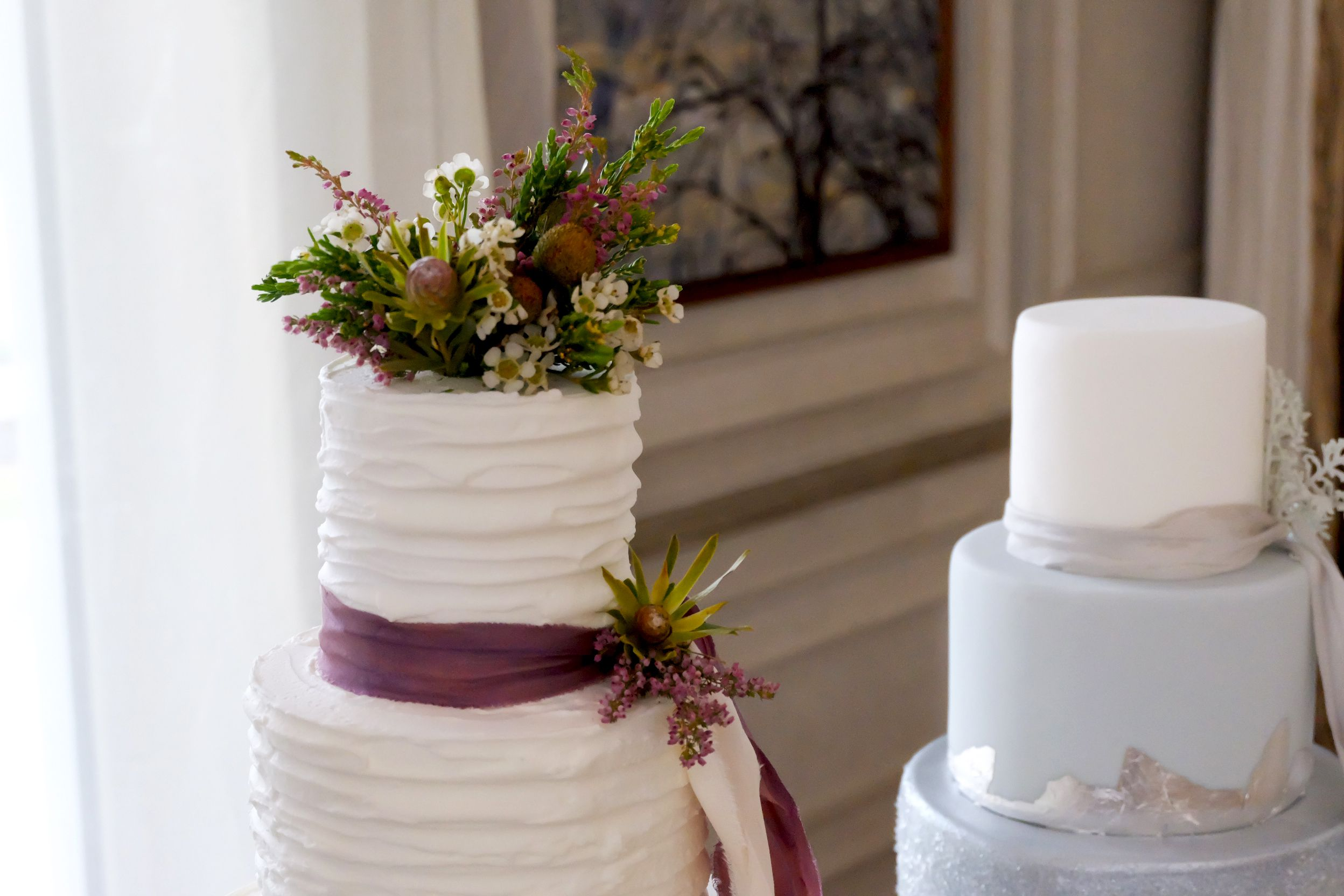 Beautifully simplistic cake with ruffle detail Wedding