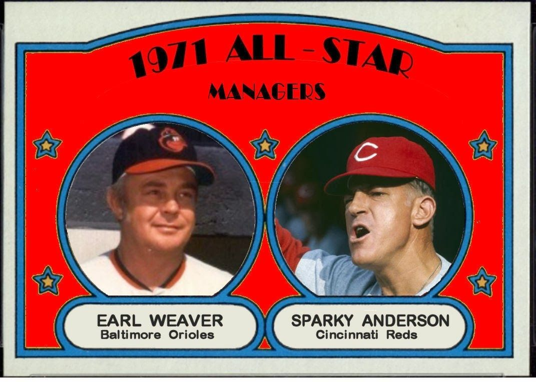 1972 Topps All Star Cards The Managers Old baseball cards