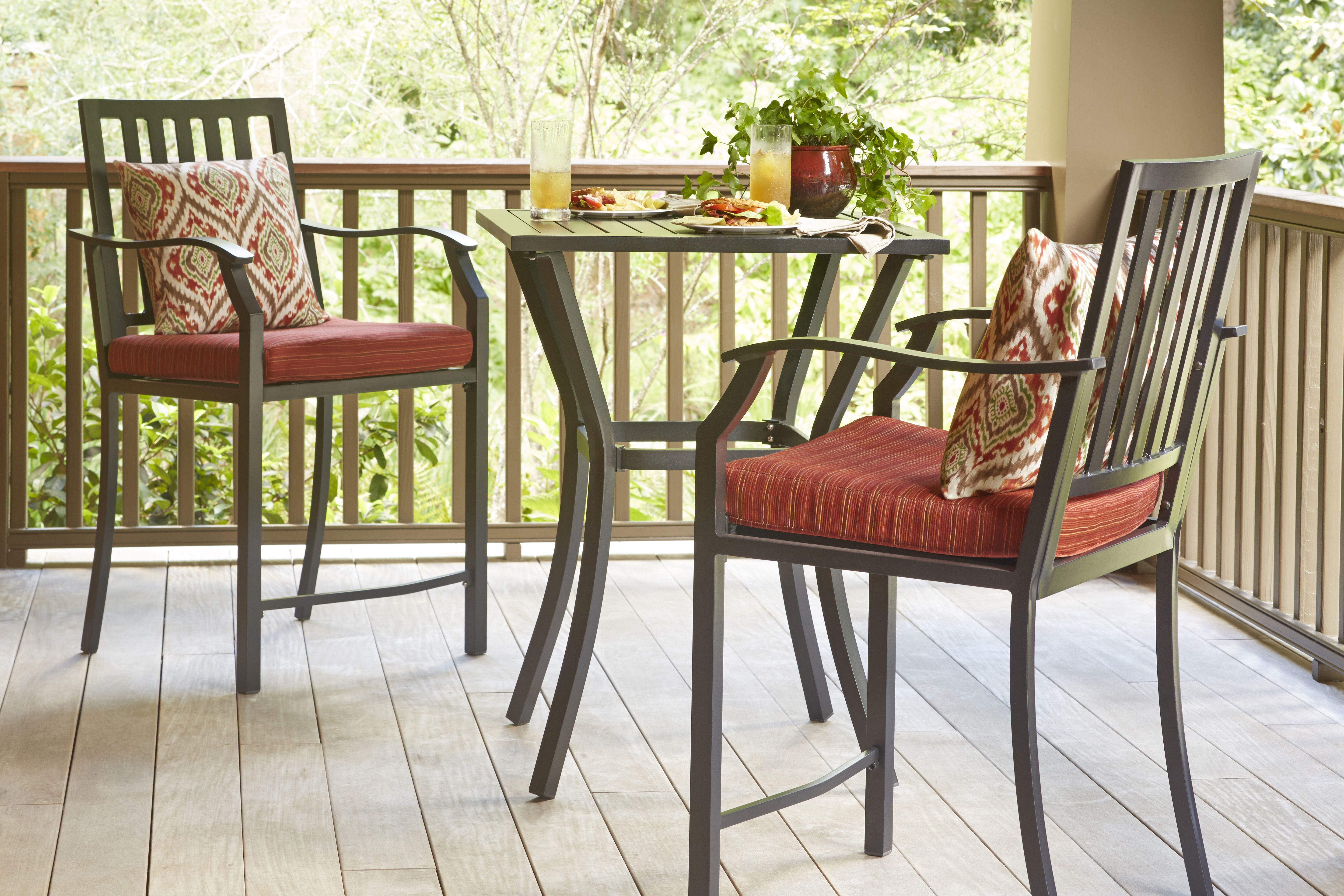 This balcony height patio set would be perfect for a small patio