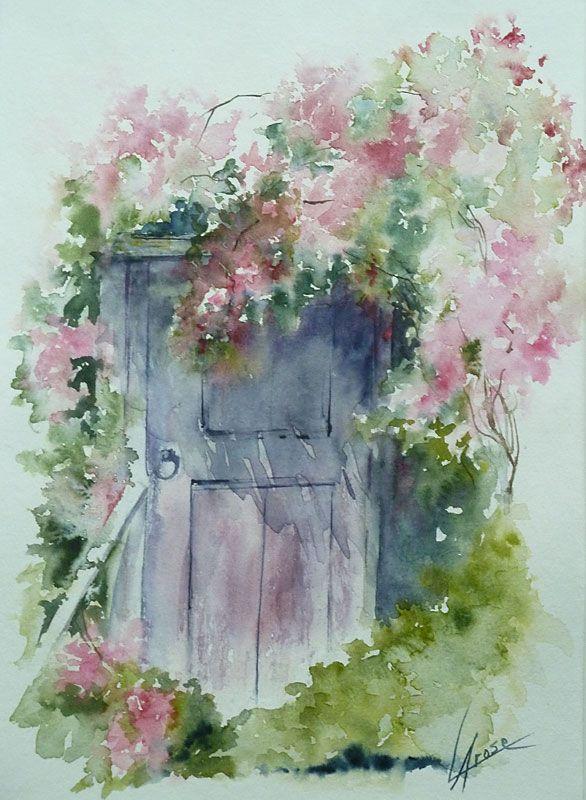 Galeries virtuelles aquarelles et acryliques anne larose vieilles portes - Peinture porte et fenetre ...