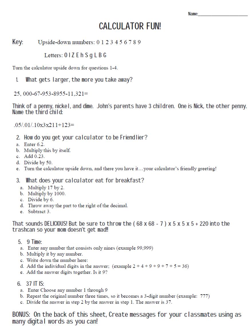 medium resolution of Riddle Math Worksheet Answers - Nidecmege