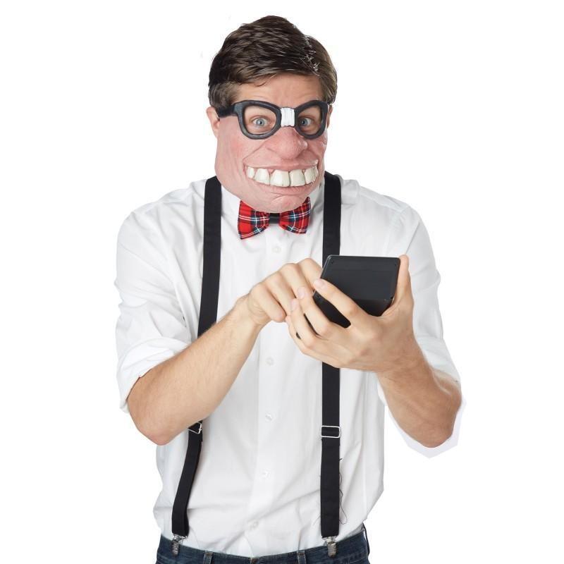 Googly Eyes Funny Cartoon Wild Fancy Dress Up Halloween Adult Costume Accessory