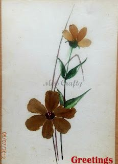 pressed dried flowers used to make this card