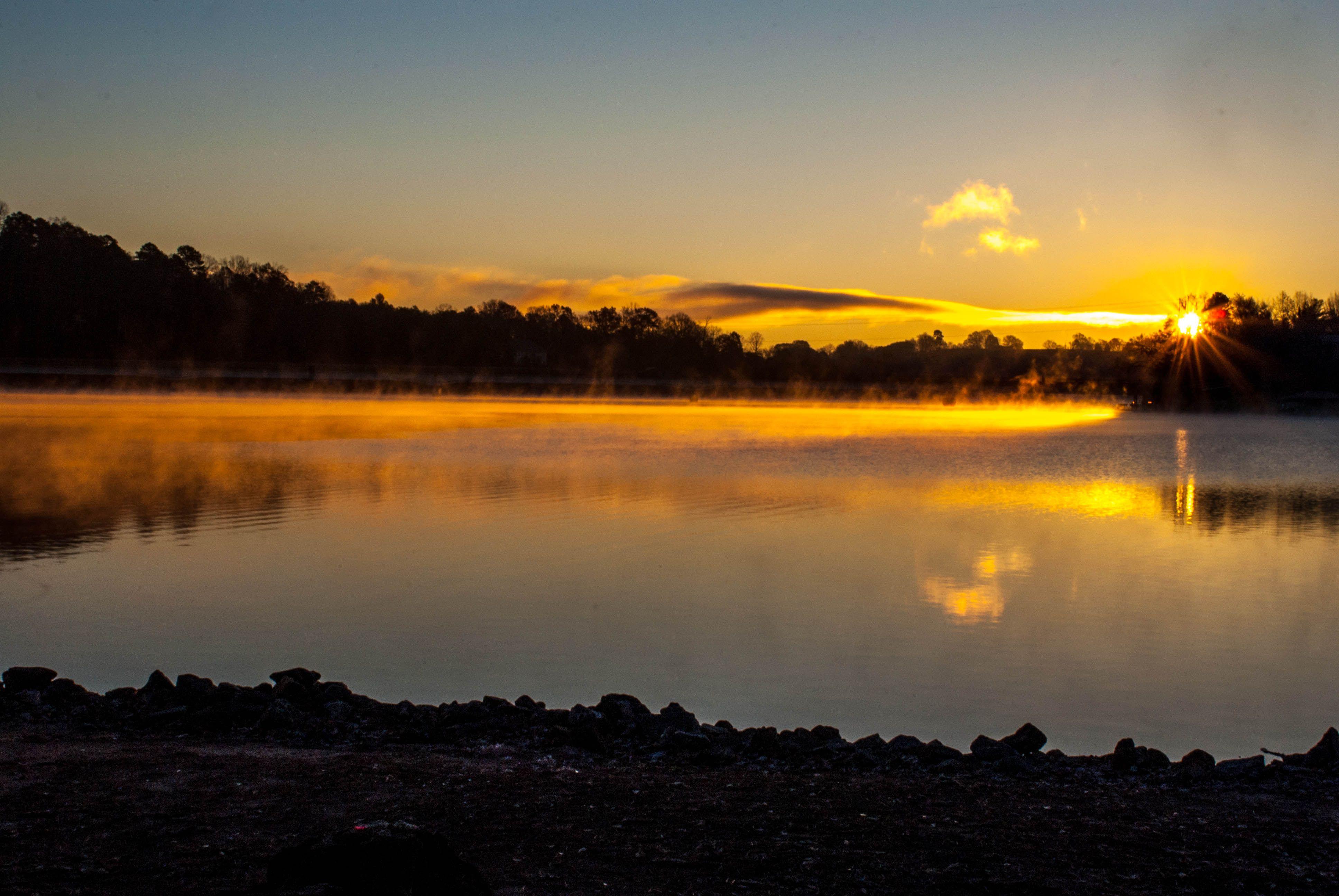Lake Hickory at sunrise.