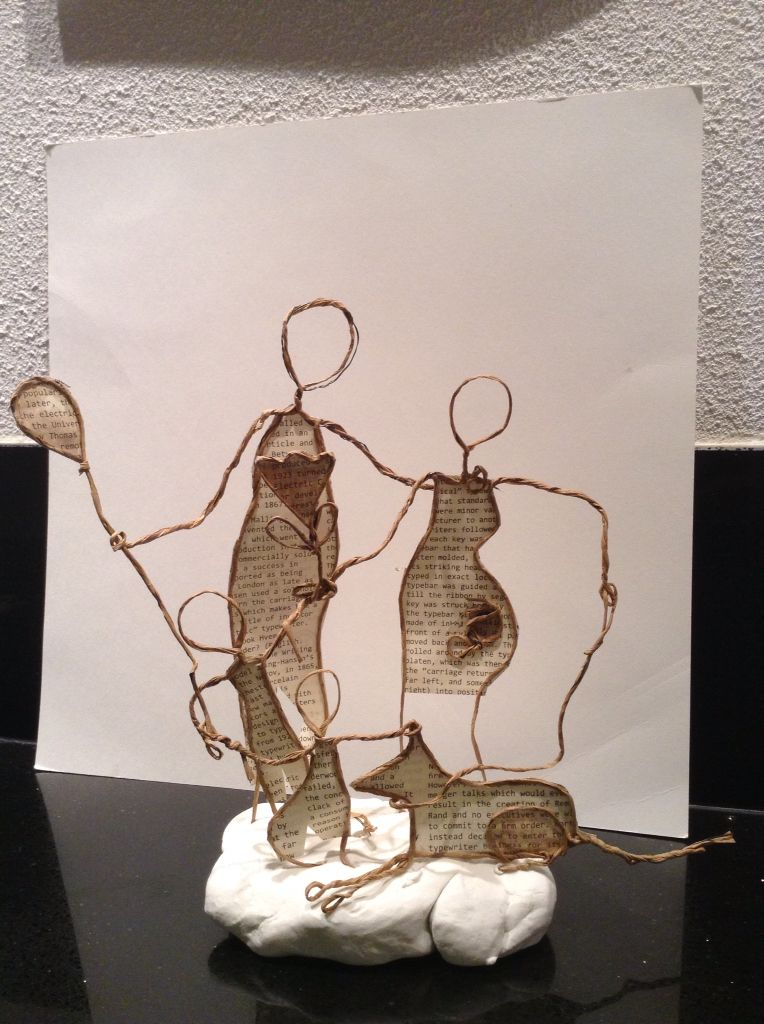 Familie Basteln Mit Papierdraht Schablonen Vorlagen Drahtfiguren