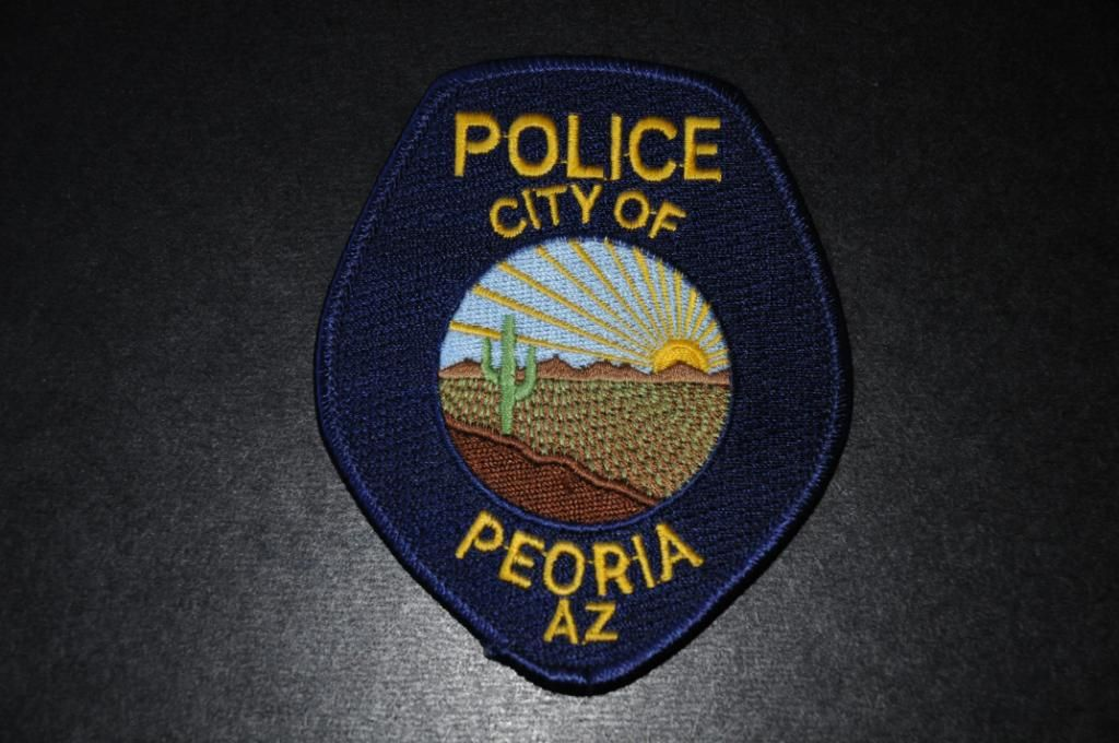 Peoria Police Patch, Maricopa County, Arizona (Current