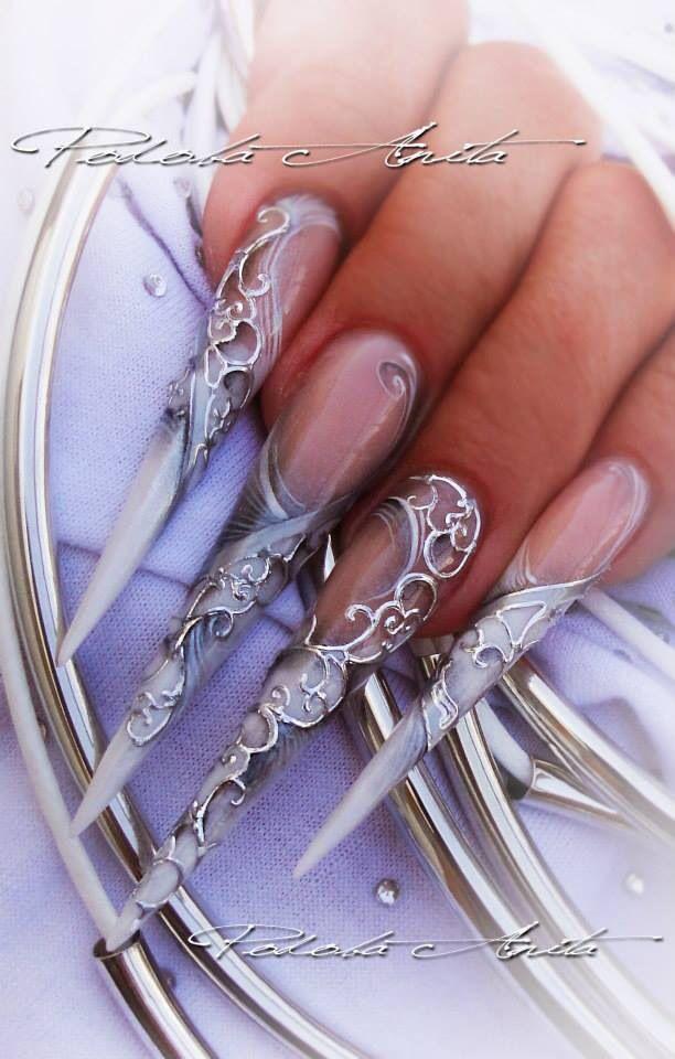 Silver stilettos Stiletto Nails Pinterest Design, Nail design