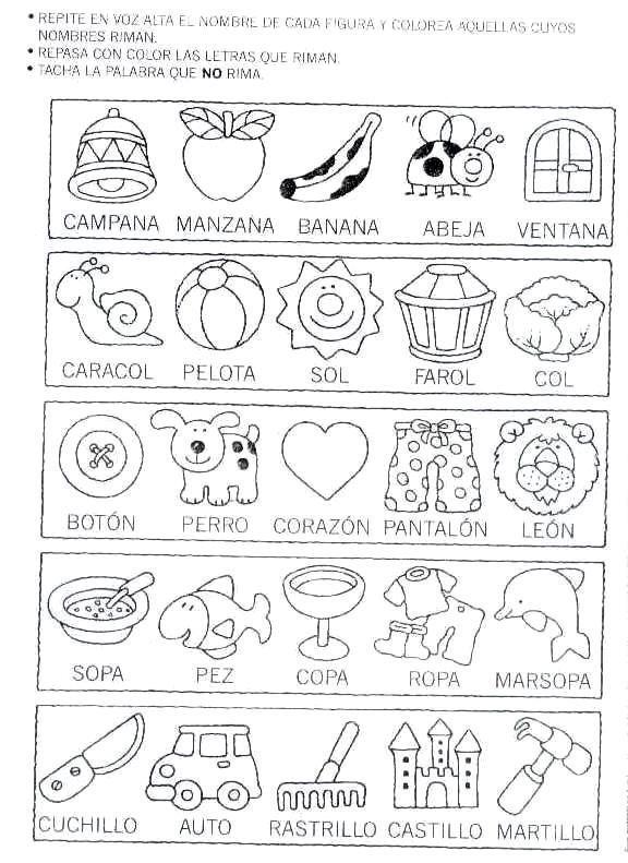 fichas+de+rimas+para+imprimir-d4.jpg (576×791) | Escola | Pinterest ...