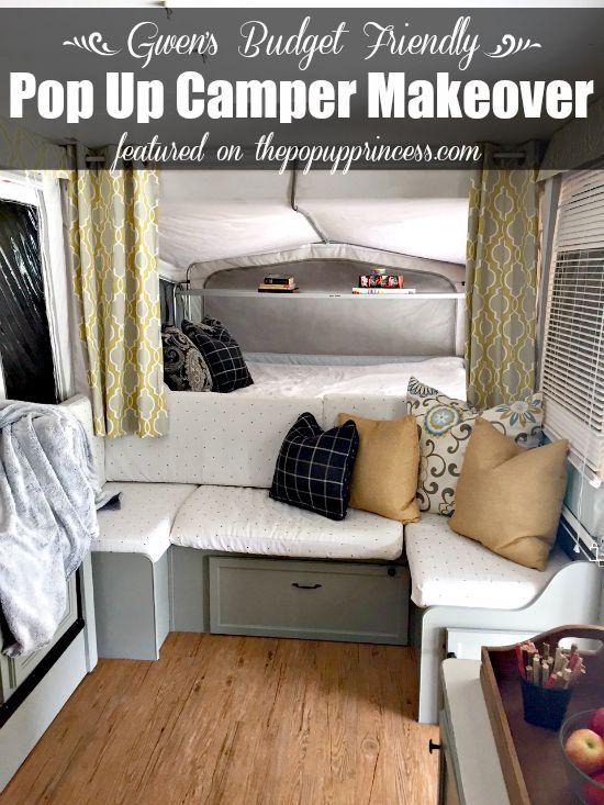 Gwen S Pop Up Camper Makeover Pop Up Camper Pinterest