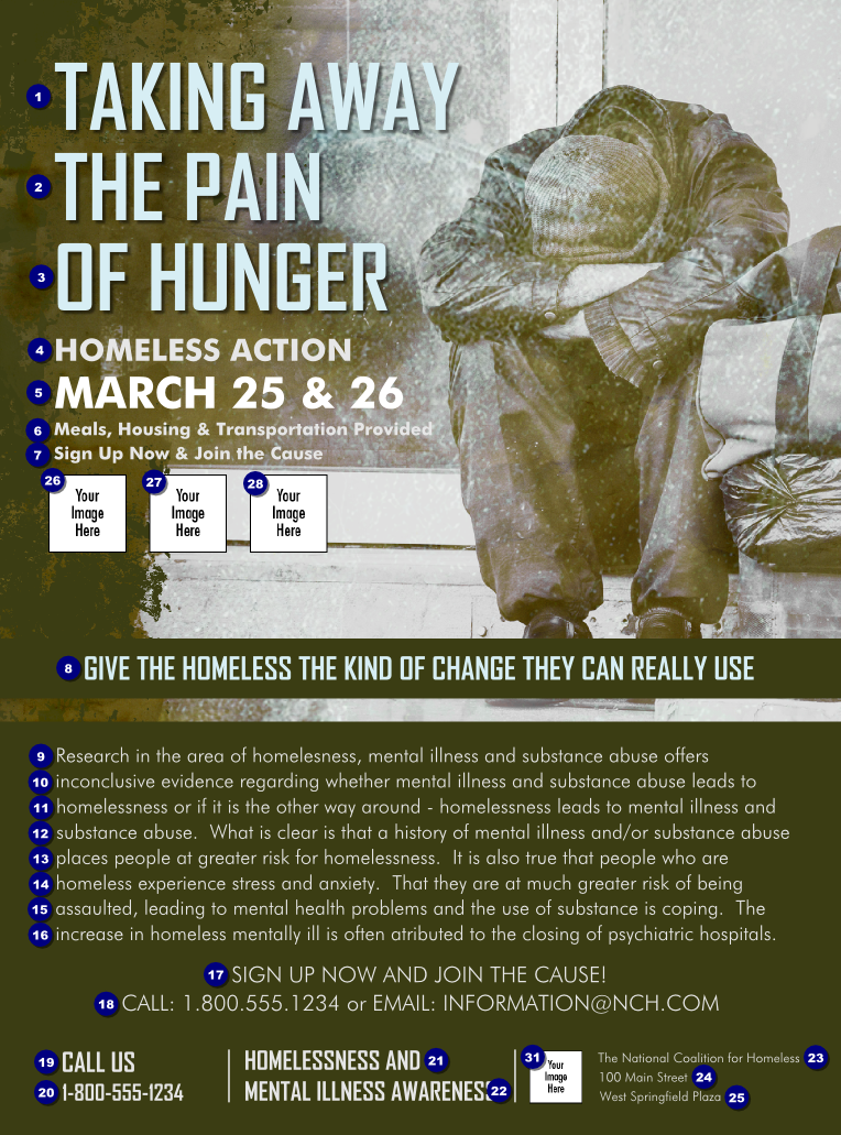 Homeless Hungry Flyer Fun Fundraisers Charity Work Ideas Fundraising Tips