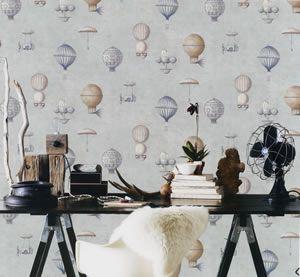 Steampunk Galerie Room Setting G56200 Wallpaper Homedecor Hotairballoons Roomidea