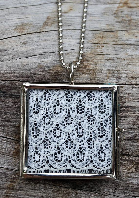 PENDANT Fragments range hand crafted vintage textile pendant with ball chain necklace