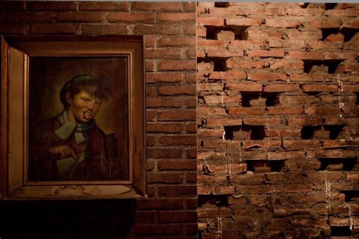 Bar Wall Decor victoria brown steampunk bar gives industrial style a dashing look