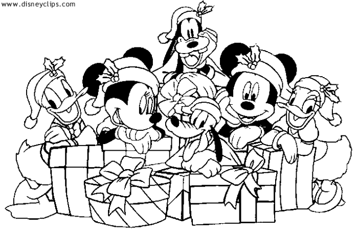 Mickey and Friends Christmas Coloring Sheet | Christmas ...