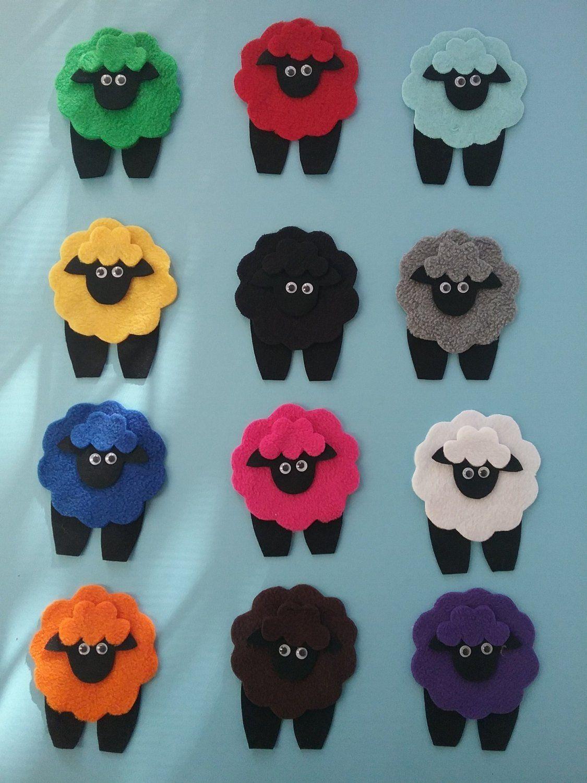 Mary had a Little Lamb Felt Board Set RHYME SONG Coloured ...