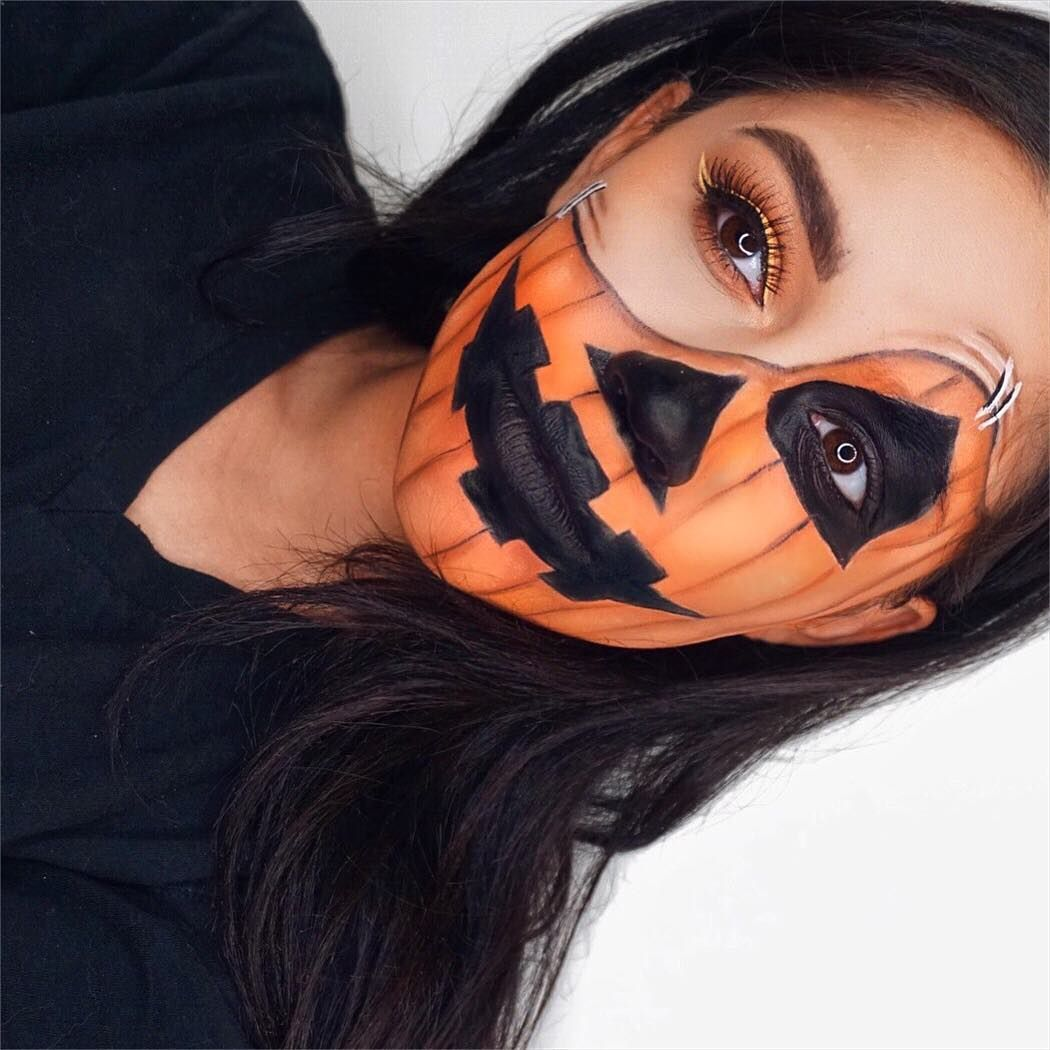 19 Incredible Jack O'Lantern Makeup Looks to Feed Your Pumpkin Obsession